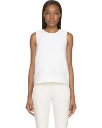 Blusa sin mangas blanca de Mary Katrantzou
