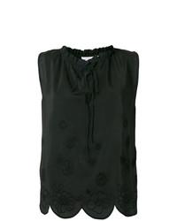 Blusa sin mangas bordada negra de See by Chloe