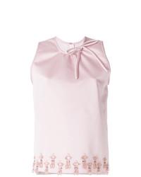 Blusa sin mangas con adornos rosada de MSGM
