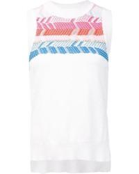Blusa sin mangas con estampado geométrico blanca de Peter Pilotto