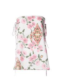 Blusa sin mangas con print de flores blanca de Marni
