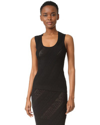 Blusa sin mangas con relieve negra de Versace
