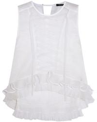 Blusa sin mangas con volante blanca de Isabel Marant