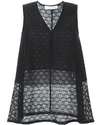 Blusa sin mangas de encaje negra de See by Chloe