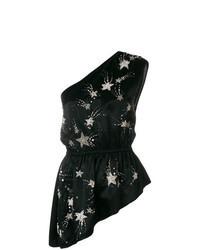 Blusa sin mangas de estrellas negra