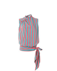 Blusa sin mangas de rayas verticales en multicolor de Maison Margiela