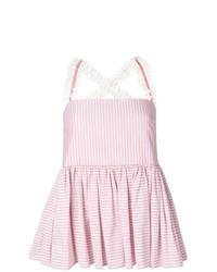 Blusa sin mangas de rayas verticales rosada de Jour/Né