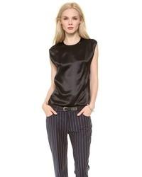 Blusa sin mangas de seda negra de Acne Studios