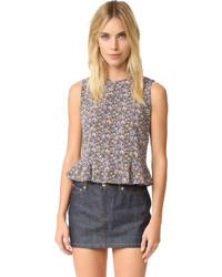Blusa sin mangas de seda violeta claro de Rebecca Taylor