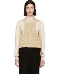 Blusa sin mangas en beige de Loewe