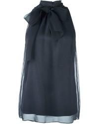 Blusa sin mangas en gris oscuro