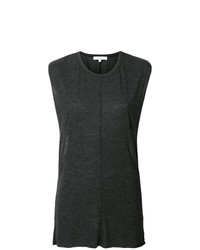 Blusa sin mangas en gris oscuro de IRO