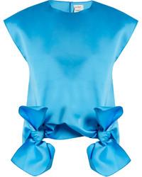 Blusa sin mangas en turquesa