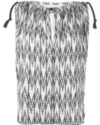 Blusa sin mangas en zig zag en negro y blanco de Isabel Marant