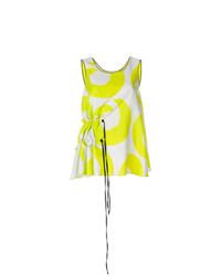 Blusa sin mangas estampada amarilla de Arthur Arbesser