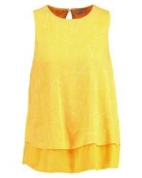 Blusa sin mangas estampada amarilla de Esprit