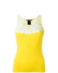 Blusa sin mangas estampada amarilla de Suzusan