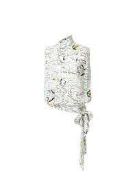 Blusa sin mangas estampada blanca de Maison Margiela