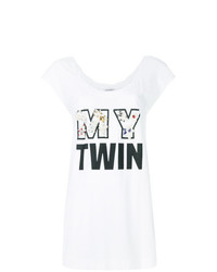 Blusa sin mangas estampada blanca de Twin-Set