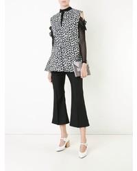Blusa sin mangas estampada en blanco y negro de Marni