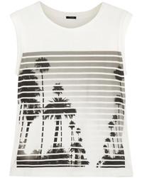 Blusa sin mangas estampada en blanco y negro de J.Crew