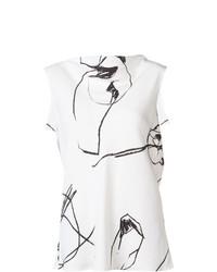 Blusa sin mangas estampada en blanco y negro de Protagonist