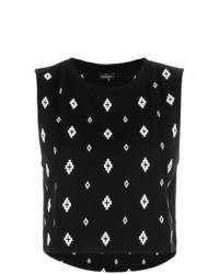 Blusa sin mangas estampada en negro y blanco de Marcelo Burlon County of Milan