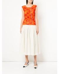 Blusa sin mangas estampada naranja de Molly Goddard