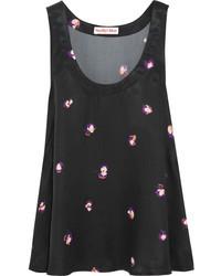 Blusa sin mangas estampada negra de See by Chloe