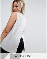Blusa sin mangas gris de Asos