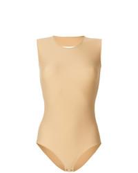Blusa sin mangas marrón claro de Maison Margiela