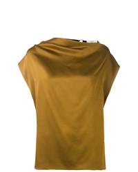 Blusa sin mangas mostaza de Lanvin