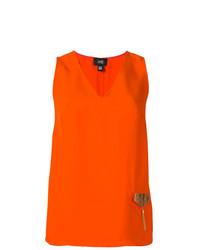 Blusa sin mangas naranja de Cavalli Class