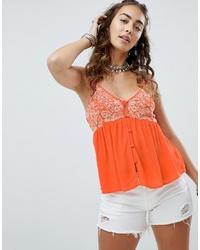 Blusa sin mangas naranja de En Creme