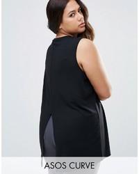 Blusa sin mangas negra de Asos