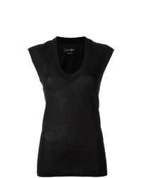 Blusa sin mangas negra de Isabel Marant