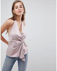 Blusa sin mangas rosada de ASOS DESIGN