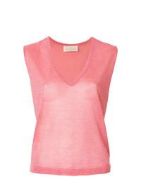 Blusa sin mangas rosada de Chiara Bertani