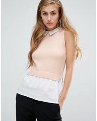 Blusa sin mangas rosada de Miss Selfridge
