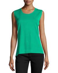 Blusa sin mangas verde original 3998413