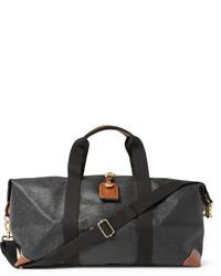 Bolsa de viaje de cuero en gris oscuro