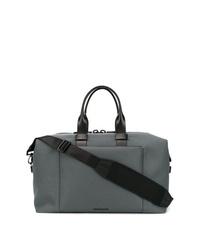 Bolsa de viaje de cuero en gris oscuro de Troubadour
