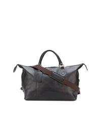 Bolsa de viaje de cuero en marrón oscuro de Barbour