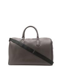 Bolsa de viaje de cuero en marrón oscuro de Canali