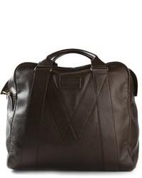 Bolsa de viaje de cuero en marrón oscuro de Marc by Marc Jacobs
