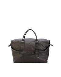 Bolsa de viaje de cuero en marrón oscuro de Zanellato