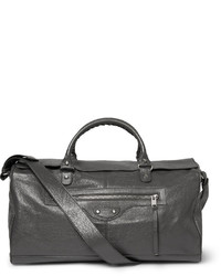 Bolsa de viaje de cuero gris