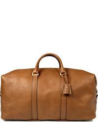 Bolsa de viaje de cuero marrón claro