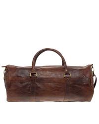 Bolsa de viaje de cuero marrón de Asos
