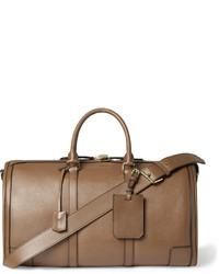 Bolsa de viaje de cuero marrón de Burberry